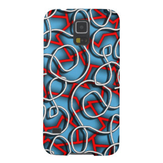 Insane Abstract Art in Blue Galaxy S5 Case