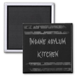 Insane asylum Halloween fridge magnet