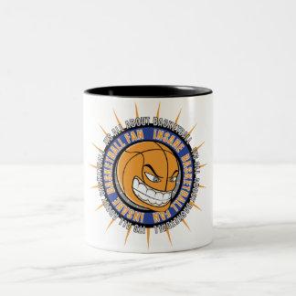 Insane Basketball Fan Two-Tone Coffee Mug