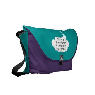 Insane custom color messenger bag