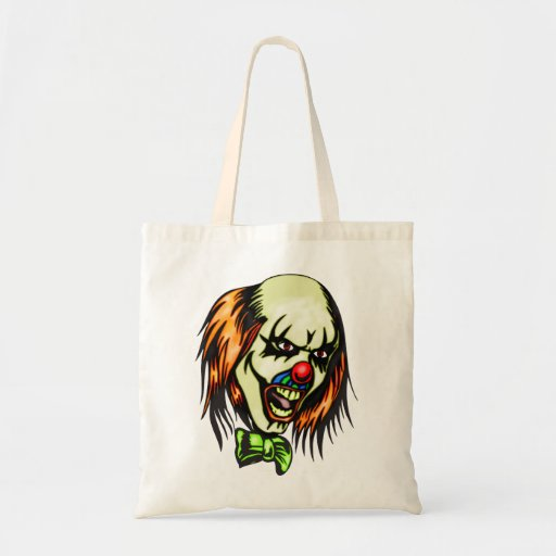 Insane Evil Clown Budget Tote Bag