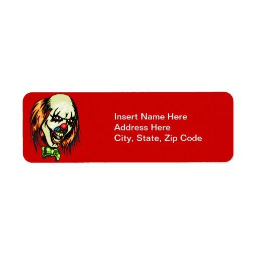 Insane Evil Clown Custom Return Address Label