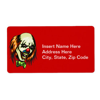 Insane Evil Clown Shipping Label