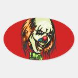 Insane Evil Clown Oval Sticker