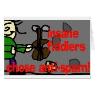 insane fiddlers anti spam card