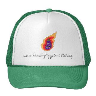 Insane Flaming Eggplant Clothing Hat