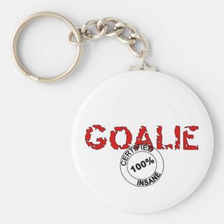 Insane Goalie Basic Round Button Keychain