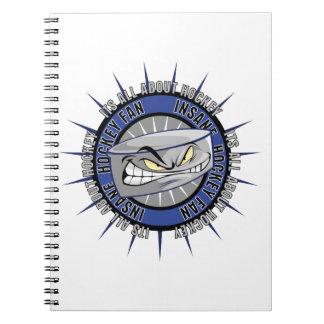 Insane Hockey Fan Spiral Notebook