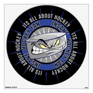 Insane Hockey Fan Wall Sticker