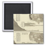 Insane, Idiotic, Blind statistical map 2 Inch Square Magnet
