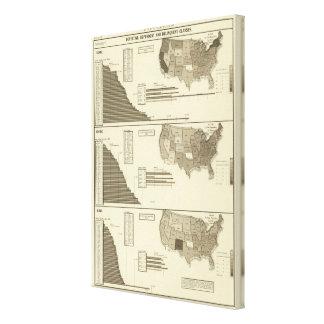 Insane, Idiotic, Blind statistical map Canvas Print