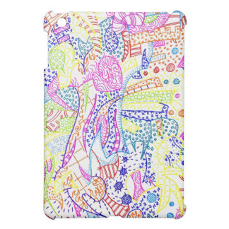 Insane multicolor doodle case iPad mini cases