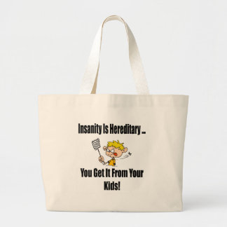 Insanity Funny T-shirts Gifts Tote Bag