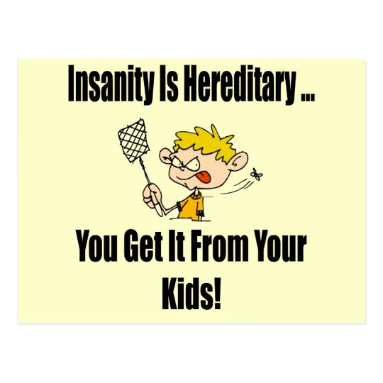 Insanity Funny T-shirts Gifts Postcard