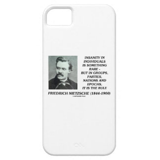 Insanity In Individuals Something Rare Nietzsche iPhone SE/5/5s Case