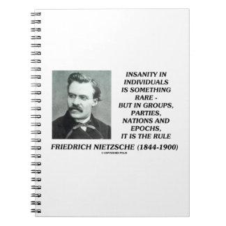 Insanity In Individuals Something Rare Nietzsche Notebook