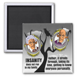 Insanity 2 Inch Square Magnet
