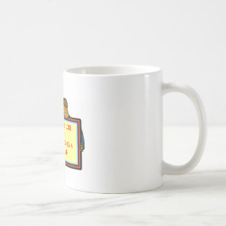insanity classic white coffee mug