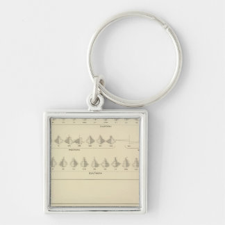 Insanity, Statistical US Lithograph Silver-Colored Square Keychain
