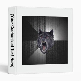 Insanity Wolf Advice Animal Meme 3 Ring Binder