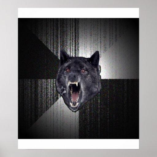 Insanity Wolf Advice Animal Meme Posters