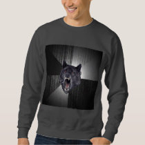 Insanity Wolf Advice Animal Meme Sweatshirt