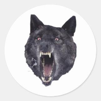 Insanity wolf classic round sticker
