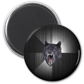 Insanity Wolf Meme Funny Memes Black Wolf 2 Inch Round Magnet