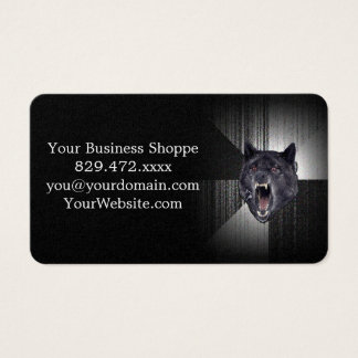 Insanity Wolf Meme Funny Memes Black Wolf Business Card