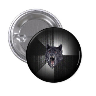Insanity Wolf Meme Funny Memes Black Wolf 1 Inch Round Button