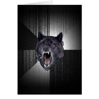 Insanity Wolf Meme Funny Memes Black Wolf Card