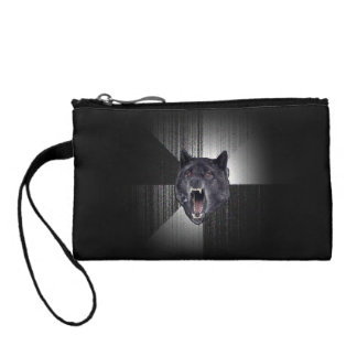 Insanity Wolf Meme Funny Memes Black Wolf Coin Wallet