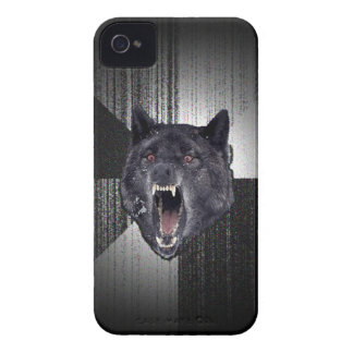 Insanity Wolf Meme Funny Memes Black Wolf iPhone 4 Covers