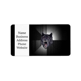 Insanity Wolf Meme Funny Memes Black Wolf Label