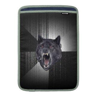 Insanity Wolf Meme Funny Memes Black Wolf MacBook Air Sleeve