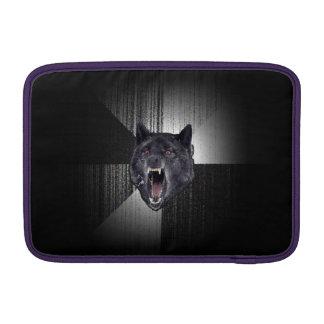 Insanity Wolf Meme Funny Memes Black Wolf MacBook Sleeves