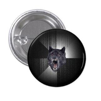 Insanity Wolf Meme Funny Memes Black Wolf Pinback Button