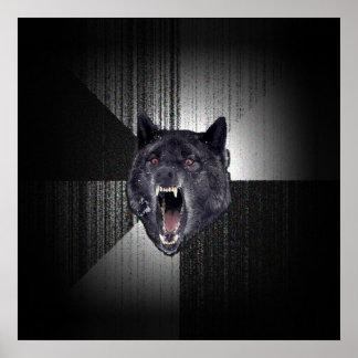 Insanity Wolf Meme Funny Memes Black Wolf Poster