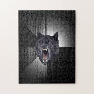 Insanity Wolf Meme Funny Memes Black Wolf Puzzle