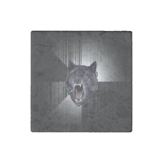 Insanity Wolf Meme Funny Memes Black Wolf Stone Magnet