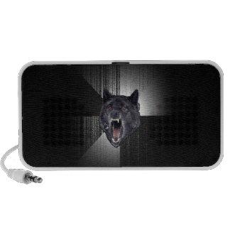 Insanity Wolf Meme Funny Memes Black Wolf Travelling Speaker