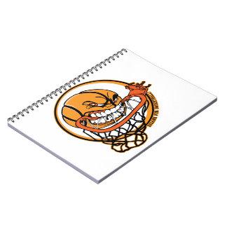 Insano para el baloncesto libreta espiral