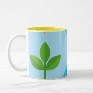 Insatiable is not sustainable Two-Tone coffee mug