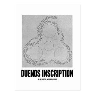 Inscripción de Duenos (vieja inscripción latina) Postal
