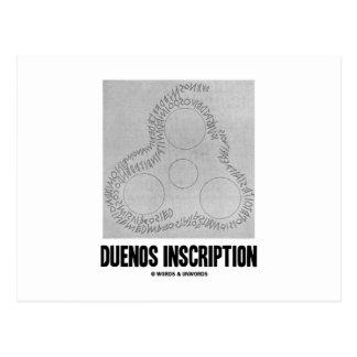 Inscripción de Duenos (vieja inscripción latina) Tarjetas Postales