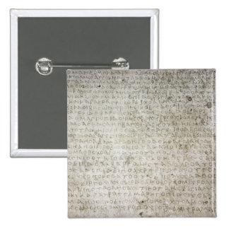 Inscripción en la lengua de Kushana escrita Pin Cuadrado