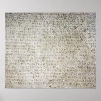 Inscripción en la lengua de Kushana escrita Póster