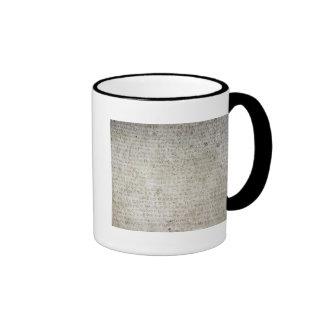 Inscripción en la lengua de Kushana escrita Tazas De Café