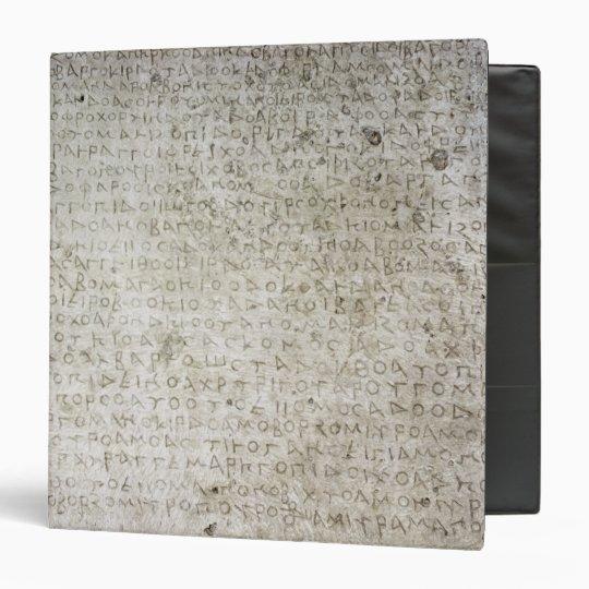 Inscription in the Kushana language written Binder