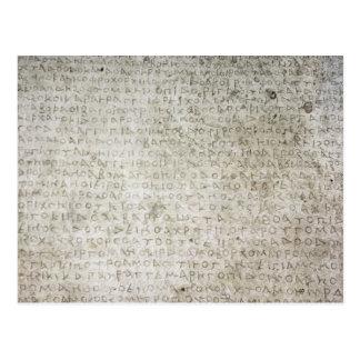 Inscription in the Kushana language written Postcard